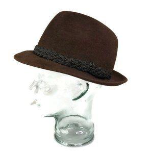 Biltmore Senator Mens Vintage Brown Fedora Hat